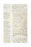 Fragment from 'The Story of the Ynglings' Giclee Print by William Morris