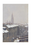 Duke Street under Snow, Edinburgh, 1870 Giclee Print by Sir George Reid