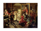 Hogarth's Studio in 1739, 1863 Giclee Print by Edward Matthew Ward
