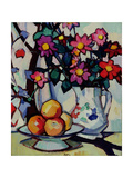 Still Life of Dahlias and Fruit, c.1910-12 Giclee Print by Samuel John Peploe