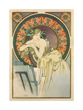 Woman with Poppies, 1898 Giclee Print by Alphonse Mucha