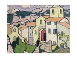 Les Baux, the Priest Enters His Church, c.1911 Giclee Print by Jessica Stewart Dismorr
