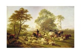 Canterbury Meadows, 1858 Giclee Print by Thomas Sidney Cooper