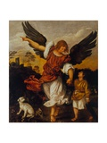 The Archangel Raphael and Tobias Giclee Print by  Titian (Tiziano Vecelli)