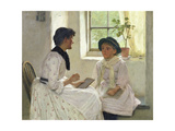 The Lesson, 1889 Giclee Print by Edwin Harris