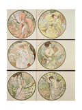 The Months, 1899 Giclee Print by Alphonse Marie Mucha
