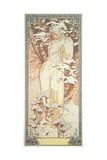 The Seasons: Winter, 1900 Giclee Print by Alphonse Mucha