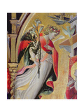 Archangel Gabriel, Detail from the Annunciation with Ss Lawrence, Benedict, John the Baptist and… Giclee Print by Giovanni dal Ponte