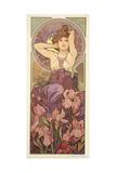 The Precious Stones: Amethyst, 1900 Impression giclée par Alphonse Mucha