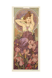 The Precious Stones: Amethyst, 1900 Giclée-tryk af Alphonse Mucha