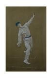 Wilfred Rhodes (1877-1973), 1905 Giclee Print by Albert Chevallier Tayler