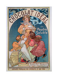 Poster Advertising 'Chocolat Ideal', 1897 Giclee Print by Alphonse Mucha