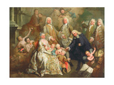 The Family of Procurator Luigi Pisani, 1758 Giclee Print by Alessandro Longhi