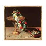 Still Life with a Wreath of Flowers, 1618 Giclee Print by Jan Brueghel the Elder