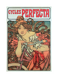 Poster Advertising 'Cycles Perfecta', 1902 Lámina giclée por Mucha, Alphonse Marie