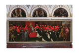 Pope Honorius III (1148-1227) Approving the Order of St. Dominic in 1216 Giclee Print by Leandro Da Ponte Bassano