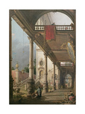 Capriccio of a Colonnade, 1765 Giclee Print by  Canaletto
