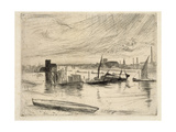 Early Morning, Battersea, 1861 Giclee Print by James Abbott McNeill Whistler