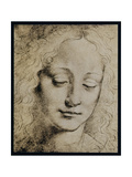 Head of a Young Girl Giclee Print by  Leonardo da Vinci