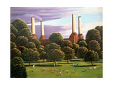 Battersea Power Station, 1982 Giclee Print by Liz Wright