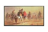 An Arab Caravan Giclee Print by Joseph-Austin Benwell