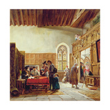 The Interior of the Great Hall, Haddon: Rent Day, 1866 Giclee Print by John Callcott Horsley