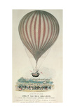 Ascent of the Great Nassau Balloon, Montpellier Gardens, 3rd July 1837 Giclee Print by George Rowe