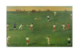 An Exact Representation of the Game of Cricket, c.1743 Giclee Print by Louis Philippe Boitard