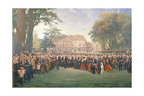 Reception of the Mayors of France at the Elysee Palace, 22nd September 1900, 1904 Giclee Print by Fernand Cormon