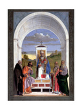 Saint Peter Surrounded by Four Saints Giclee Print by Marco Basaiti