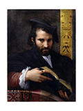 Portrait of a Man with a Book Gicleetryck av Parmigianino,