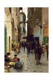 A Ghetto of Florence Giclee Print by Telemaco Signorini