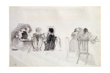 Two Seated Groups Giclee Print by John Harden