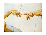 The Creation of Adam, from the Sistine Ceiling, 1510 (Detail) Giclée-Druck von Michelangelo Buonarroti