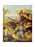 St. Francis Receiving the Stigmata Giclee Print by Giovanni Battista Cima Da Conegliano