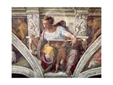 Sistine Chapel Ceiling: The Prophet Daniel, c.1508-10 Giclee Print by  Michelangelo Buonarroti