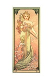 The Seasons: Spring, 1900 Stampa giclée di Alphonse Mucha