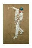 G.W.Beldam Bowling Giclee Print by Albert Chevallier Tayler