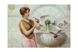 By the Fountain Giclee Print by Henry Ryland