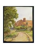 A Hampshire Farmhouse Near Steep Giclee Print by Ernest Arthur Rowe