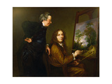 Self Portrait with His Preceptor Charles Spackman Giclee Print by Thomas Barker of Bath