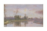 River Landscape, 1888 Giclee Print by Sir David Murray