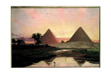 The Pyramids at Giza Giclee Print by Thomas Seddon