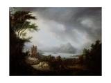 A Stormy Highland Scene Giclee Print by Alexander Nasmyth