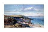 A Mount's Bay Fishing Village (Mousehole) 1860 Giclee Print by George Wolfe
