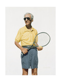 Man with Tennis Racket, 2004 Giclee Print by Max Ferguson