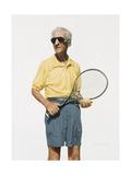 Man with Tennis Racket, 2004 Giclee Print by Max Ferguson