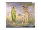 Loves of the Wind and the Seasons Giclee Print by Albert Joseph Moore