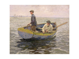 In the Whiting Ground, c.1914 Giclee Print by Harold Harvey