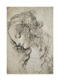 Study for the Head of Mary Magdalene Giclee Print by  Leonardo da Vinci